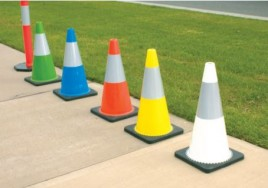 Reflective Coloured Cones