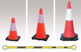 Reflective Orange Cones